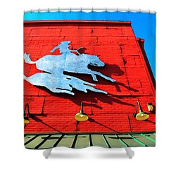 The Saloon Shower Curtain by Chris Berry