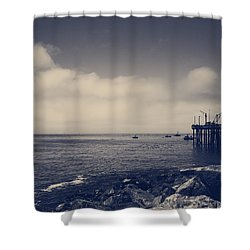 The Salty Air Shower Curtain by Laurie Search