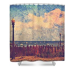 The Salty Air Sea Breeze In Her Hair Iv Shower Curtain by Aurelio Zucco