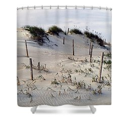 The Sands Of Obx Shower Curtain by Greg Reed