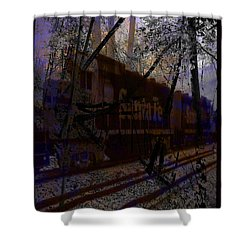 Shower Curtain featuring the digital art The Santa Fe by Cathy Anderson