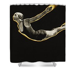 The Sawn Dive Circa 1939 Shower Curtain by Aged Pixel
