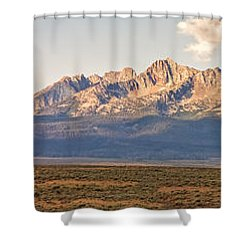 The Sawtooths' Shower Curtain by Robert Bales