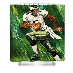The Scambling Quarterback Shower Curtain