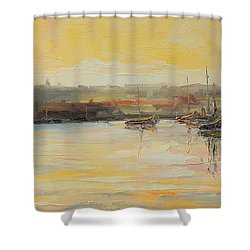 The Scarborough Harbour Shower Curtain