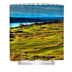 The Scenic Chambers Bay Golf Course - Location Of The 2015 U.s. Open Tournament Shower Curtain