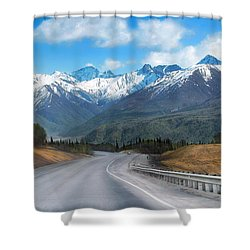 The Scenic Glenn Highway  Shower Curtain