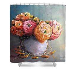 Shower Curtain featuring the painting The Scent Of Flowers by Vesna Martinjak