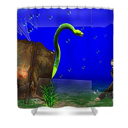 Shower Curtain featuring the digital art The Scent Of The Girl  by Liane Wright