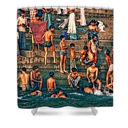 The Scolding Shower Curtain by Steve Harrington