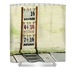 The Score Board Shower Curtain by Steve Taylor