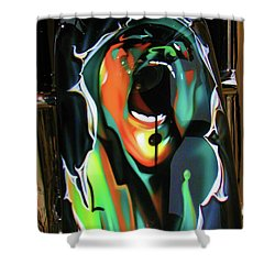 Shower Curtain featuring the photograph The Scream - Pink Floyd by Susan Carella