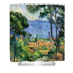 The Sea At The Estaque Shower Curtain by Paul Cezanne