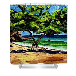 The Sea-grape Tree Shower Curtain