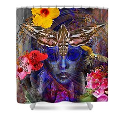 The Search For Hibiscus Life Shower Curtain
