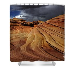 The Second Wave Shower Curtain by Vivian Christopher