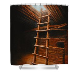 The Second World Shower Curtain by Jerry McElroy
