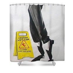 Shower Curtain featuring the painting The Secret El Secreto by Lazaro Hurtado