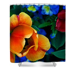 The Secret Life Of Tulips Shower Curtain by Rory Sagner