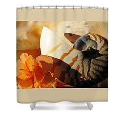 The Secret Of The Sea Shower Curtain by Angela Davies