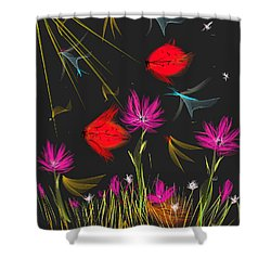 The Secrets Of The Night Shower Curtain by Angela A Stanton