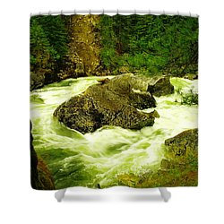 The Selway River Shower Curtain by Jeff Swan