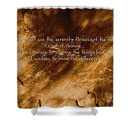 The Serenity Prayer 1 Shower Curtain by Andrea Anderegg