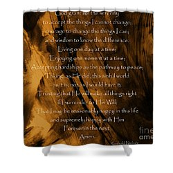 The Serenity Prayer Shower Curtain by Andrea Anderegg