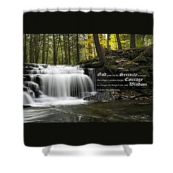 The Serenity Prayer Shower Curtain