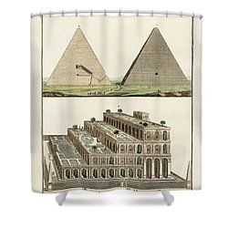 The Seven Wonders Of The World Shower Curtain by Splendid Art Prints