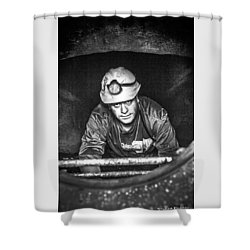 Shower Curtain featuring the photograph The Sewer Guy by Stwayne Keubrick