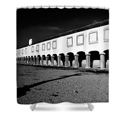 Shower Curtain featuring the photograph The Shadow by Edgar Laureano
