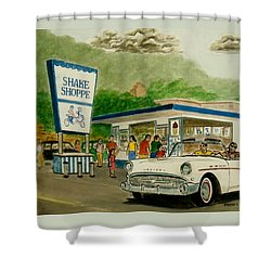 The Shake Shoppe Portsmouth Ohio 1960 Shower Curtain