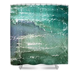 The Shallow End Shower Curtain by Linda Woods