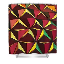 Shapes Of Color Shower Curtain