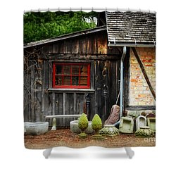 The Shed At Monches Farm Shower Curtain by Mary Machare