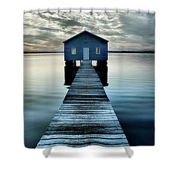 The Shed Upon The Water Shower Curtain