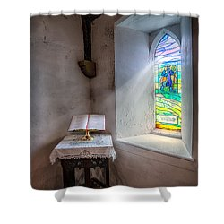 The Shepherd Shower Curtain by Adrian Evans