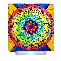 The Shift Shower Curtain by Teal Eye  Print Store