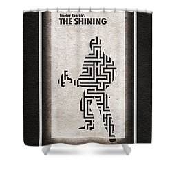 The Shining Shower Curtain by Ayse Deniz