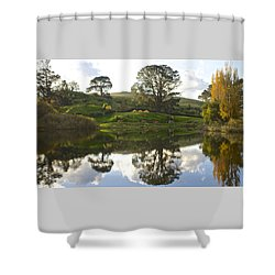 The Shire Middle Earth Shower Curtain by Venetia Featherstone-Witty