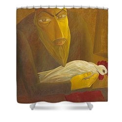 The Shochet With Rooster Shower Curtain