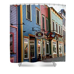The Shops In Crested Butte Shower Curtain by RC DeWinter