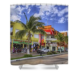 The Shops Of Cozumel Shower Curtain by Jason Politte