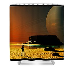 The Shore Of The Cupric Seas... Shower Curtain