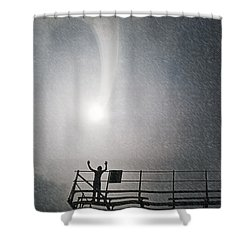 Shower From Above Shower Curtain