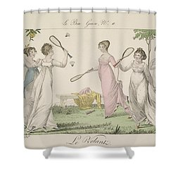 The Shuttlecock, Plate 11 From Le Bon Shower Curtain by French School