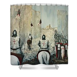 The Siege Of Ascalon Shower Curtain