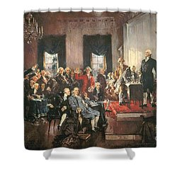 The Signing Of The Constitution Of The United States In 1787 Shower Curtain