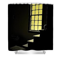 The Silent Room Shower Curtain